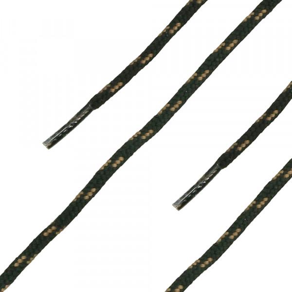 Schnürsenkel rund schwarz-braun